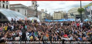 Asamblea del movimiento 15M en Madrid