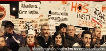 Manifestación de la Marea Blanca contra los recortes y la privatización sanitaria
