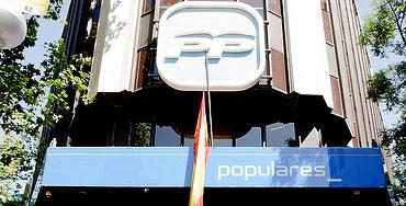 Sede del PP en Madrid
