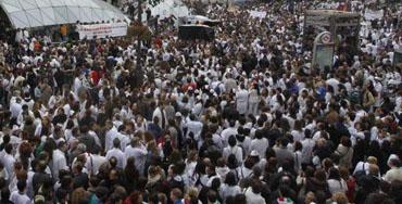 Manifestación de la Marea Blanca - Foto: Raúl Fernández