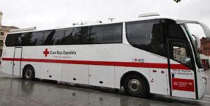 Autobús de Cruz Roja para donaciones de sangre