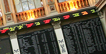 Pantalla de cotizaciones del Ibex 35