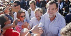 Mariano Rajoy y Angela Merkel en Santiago de Compostela