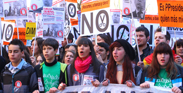Manifestación de estudiantes - Foto: Raúl Fernández