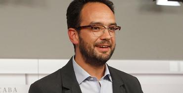 Antonio Hernando, portavoz parlamentario socialista