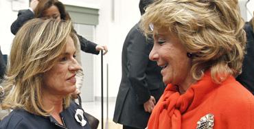 Ana Botella junto a Esperanza Aguirre