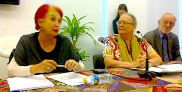 Rosa María Calaf durante el encuentro 'El poder de cambiar el presente'