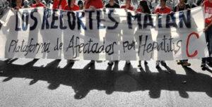 Manifestación de afectados por la Hepatitis C