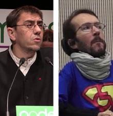 Juan Carlos Monedero y Pablo Echenique