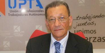 Sebastián Reyna, secretario general de la Unión de Profesionales y Trabajadores Autónomos, UPTA