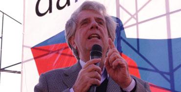 Tabare Vazquez, candidato de la coalición Frente Amplio