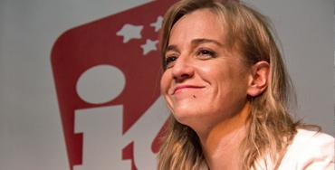 Tania Sánchez, candidata de IU a la presidencia de la Comunidad de Madrid