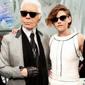 Karl Lagerfeld y Kristen Stewart