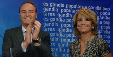 Alberto Fabra junto a Esperanza Aguirre