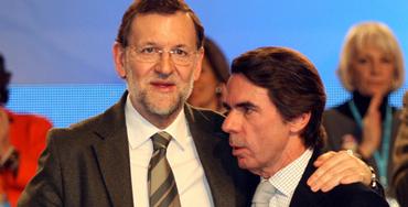 José María Aznar junto a Mariano Rajoy