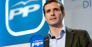 Pablo Casado, portavoz del Comité de Campaña del PP