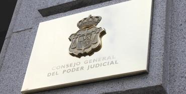 Placa del CGPJ - Foto: Raúl Fernández