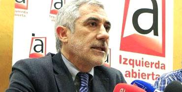Gaspar Llamazares, portavoz de Izquierda Abierta