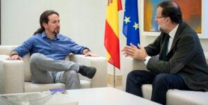 Pablo Iglesias junto a Mariano Rajoy