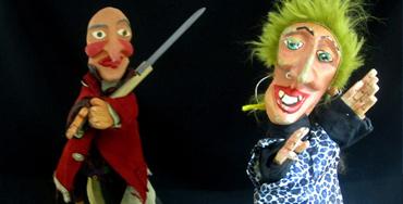 Títeres de la actuación en los carnavales de Madrid