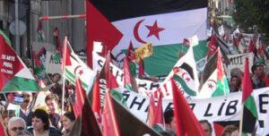 Manifestación pidiendo la libertad para el Sáhara
