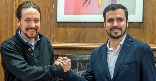 Pablo Iglesias con Alberto Garzón