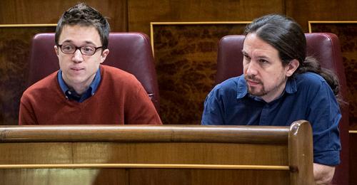 Iñigo Errejón junto a Pablo Iglesias