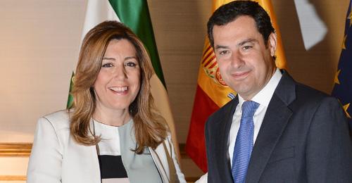 Susana Díaz junto a Juan Manuel Moreno Bonilla