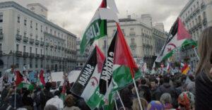 Manifestación a favor del pueblo saharaui