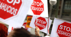 Manifestación de la PAH