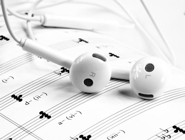 Auriculares partitura