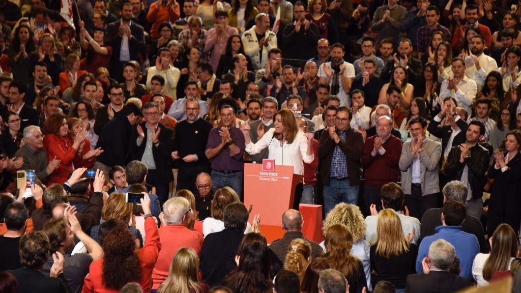 Susana Díaz en un acto del PSOE