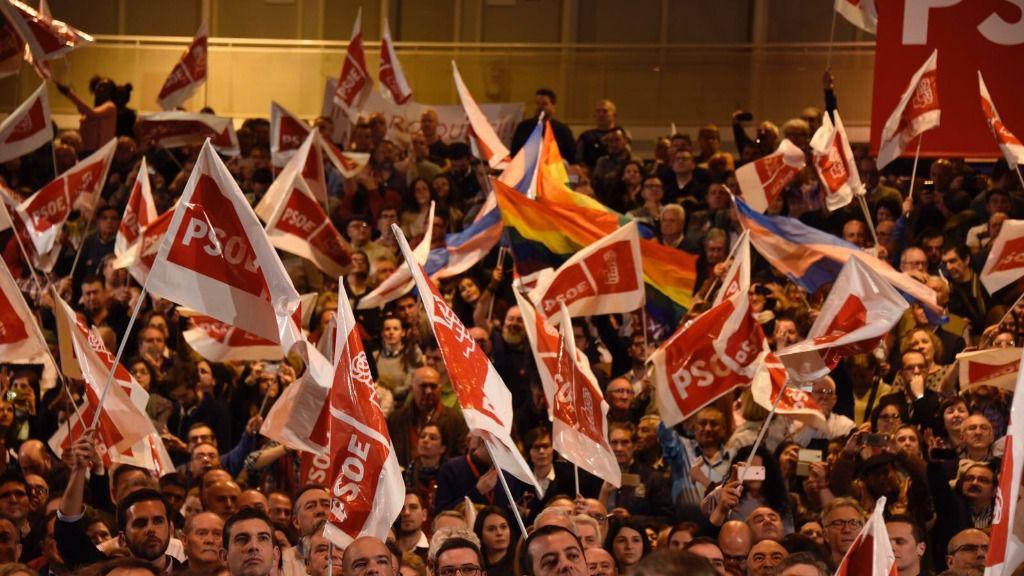 Militantes del PSOE