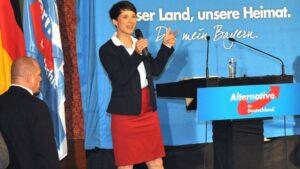 Frauke Petry, presidenta de Alternativa para Alemania (AfD)
