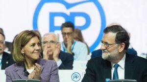 María Dolores de Cospedal junto a Mariano Rajoy