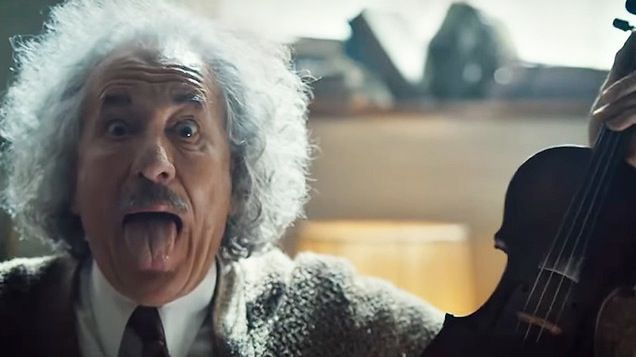 Geoffrey Rush interpreta a Albert Einstein en la nueva serie Genius