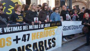 Concentración de víctimas del accidente del metro de Valencia