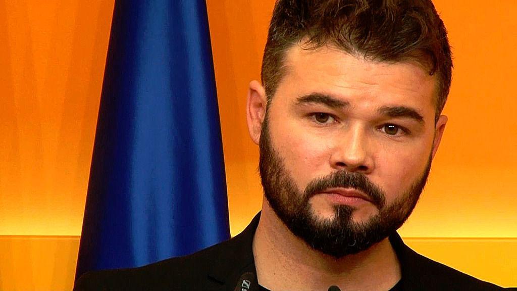 Gabriel Rufián, portavoz de ERC en el Congreso de los Diputados