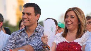 Pedro Sánchez, y Susana Díaz