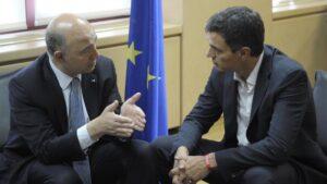 Pierre Moscovici y Pedro Sánchez