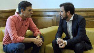 Pedro Sánchez y Alberto Garzón