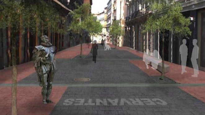 Calle del barrio de Las Letras.