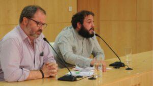 Los concejales Barbero y Zapata.