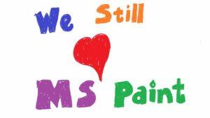 Amor al Paint en el blog de Windows
