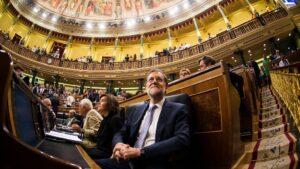 Mariano Rajoy con Soraya Sáenz de Santamaría