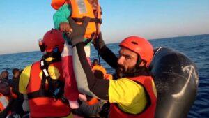 Rescate en el Mediterráneo.
