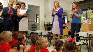 Cristina Cifuentes inaugura el curso escolar 2016/17.