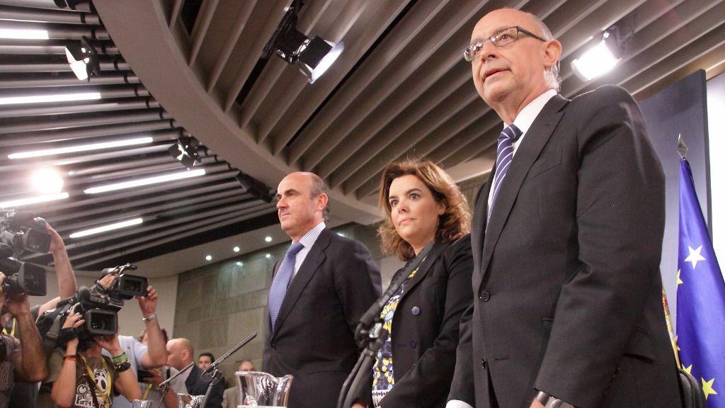 Cristobal Montoro, Soraya Sáenz de Santamaría y Luis de Guindos