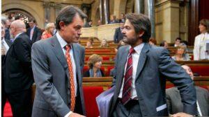 Artur Mas, expresidente de la Generalitat de Cataluña y Oriol Pujol, ex secretario general de Convergencia Democrática de Cataluña