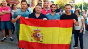 Asistentes al homenaje en Córdoba.